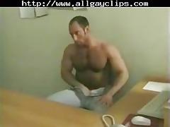 hunks office enterteinment. homo porn gay chaps
