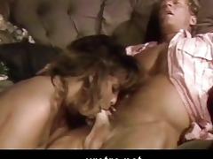 retro porn clip with facial