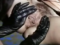 vintage lesbians licking sexy black boots and