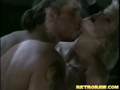 retro blond acquires drilled in the kitchen