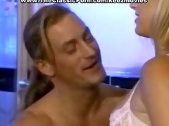 deep throating from skinny golden-haired hottie