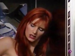 absurdly slutty slut shafted in the elevator..