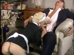 maid woman gives worthy blowjob and fuck hard