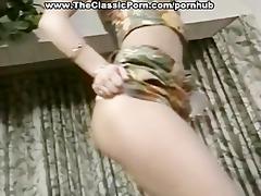 strap-on lesbian classic threesome