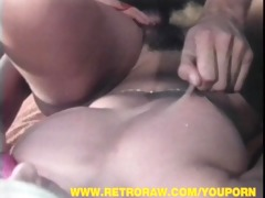 retro hairy blonde spoiling pecker outdoor