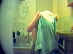 bushy fur pie gal caught on hidden web camera