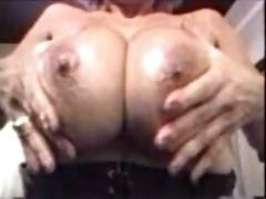 pat wynn washing and rubing her huge love melons