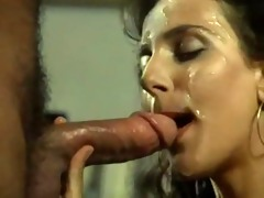 bewitching oral-sex and facial vintage classic