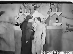 vintage porn 98111s - ffm trio - nudist bar