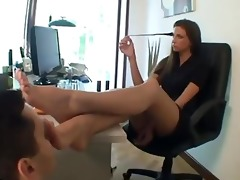 classic foot fetish office