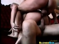 golden-haired bitch double permeated