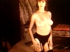 educate me, tiger - vintage stockings striptease