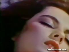 busty retro playgirl masturbates in ottoman