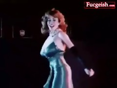 classic porn of lascivious aged stripper showing