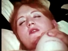 redhead gets double penetrated by chaps