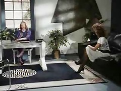 retro office lesbian babes muff and a-hole