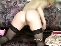 retro blondie double penetration sex toy