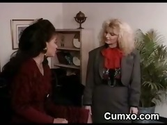 ebon bitch lesbian licking golden-haired