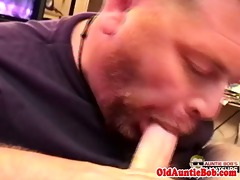 pov of auntie queens bj and masturbation