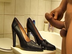 jizz flow on gf high heels classic part 63043