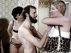 vintage euro orgy 925615s - interracial