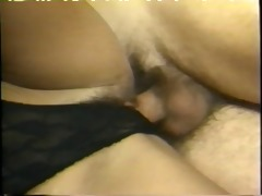 big hair vintage doxy drinks ball cock juice load