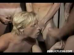 retro twink circle jerk and suck feast