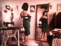 vintage dress maker striptease